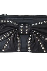 Betsey Johnson Bows Whistles Clutch in Black - Lyst