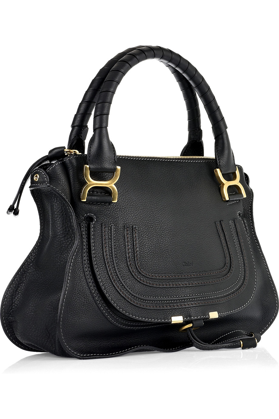 chlo marcie medium satchel bag in black lyst. Black Bedroom Furniture Sets. Home Design Ideas