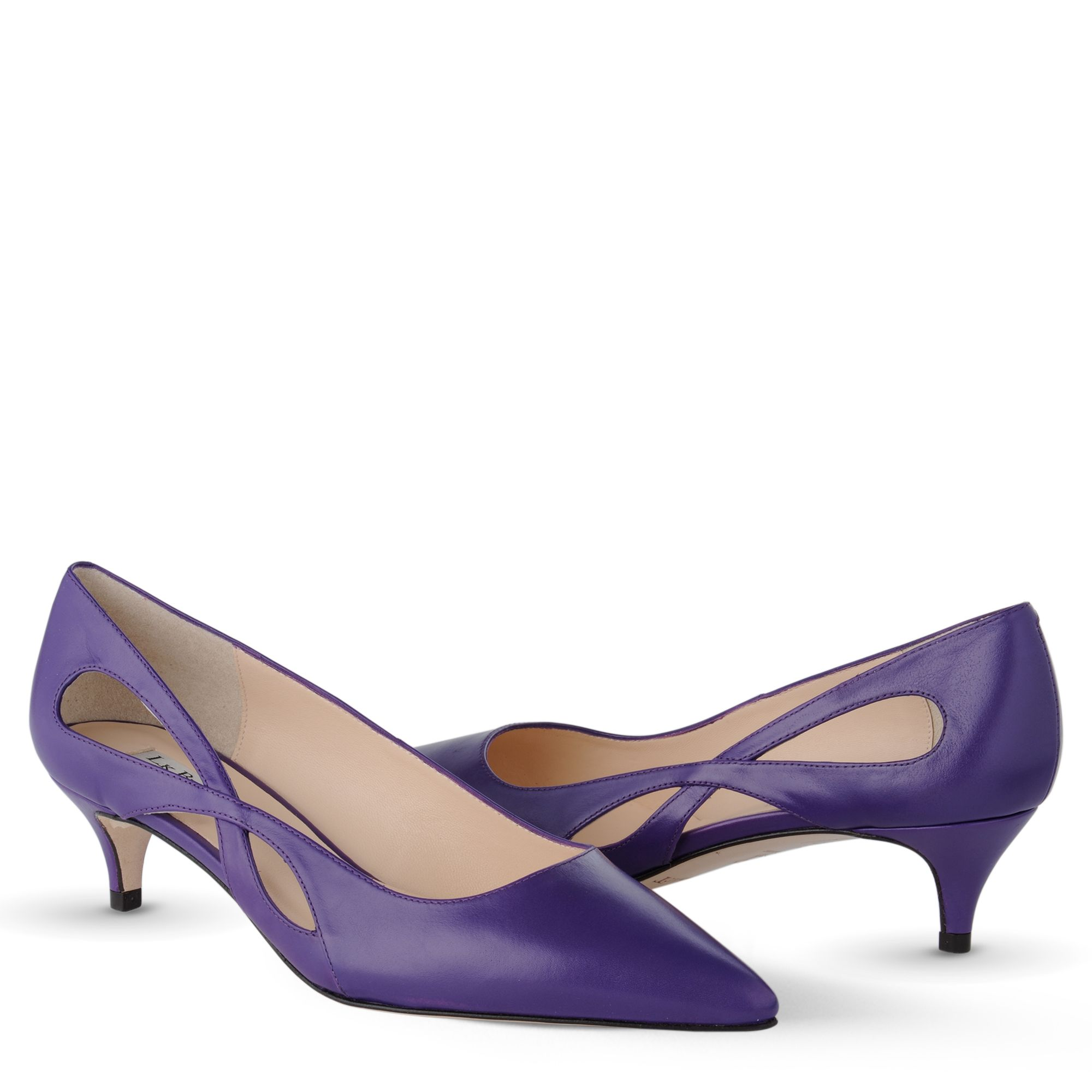 bennett Azalea Kitten Heel Court Shoes in Purple (violet) | Lyst: www.lyst.com/shoes/lk-bennett-violet-azalea-kitten-heel-court-shoes...