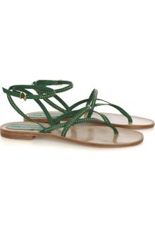 Vanessa Bruno Athé Studded Leather Flat Sandals - Lyst
