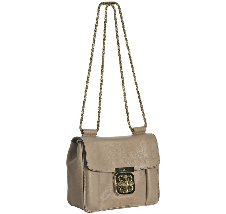 Chlo¨¦ Taupe Calfskin Elsie Square Mini Shoulder Bag in Beige (grey ...
