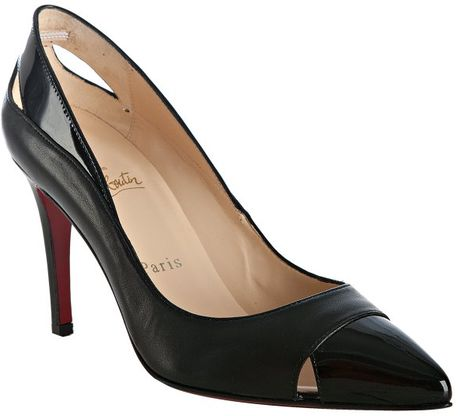 Christian Louboutin Otrot Napa Fringe Red Sole Pump in Black