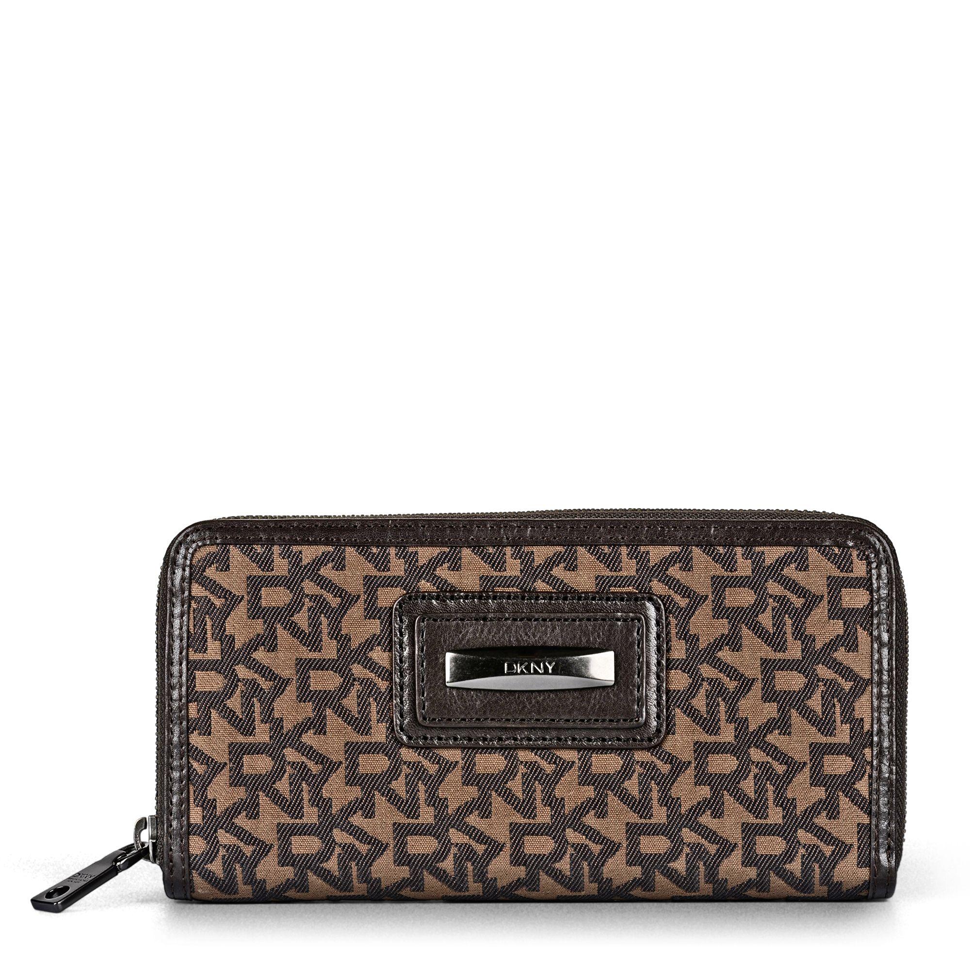 Dkny Bryant Park Zip-Around Wallet in Orange | Lyst |Dkny Wallet