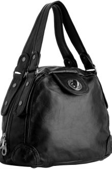 Marc By Marc Jacobs Black Leather Punk Posh Bowler Bag - Lyst