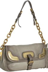 Prada Dove Deerskin Cervo Chain Shoulder Bag - Lyst