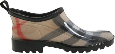 Burberry Ankle Rain Shoes In Brown Black Lyst