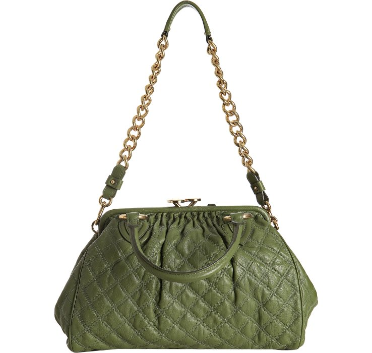 Lyst Marc Jacobs Olive Quilted Leather Stam Handbag In Green