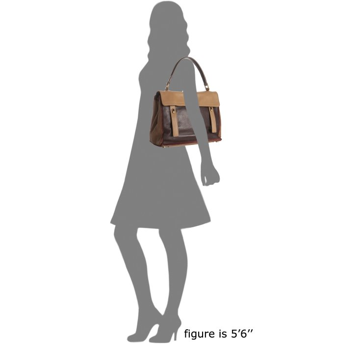Saint laurent Brown Leather Muse Two Two-tone Top Handle Bag in ...