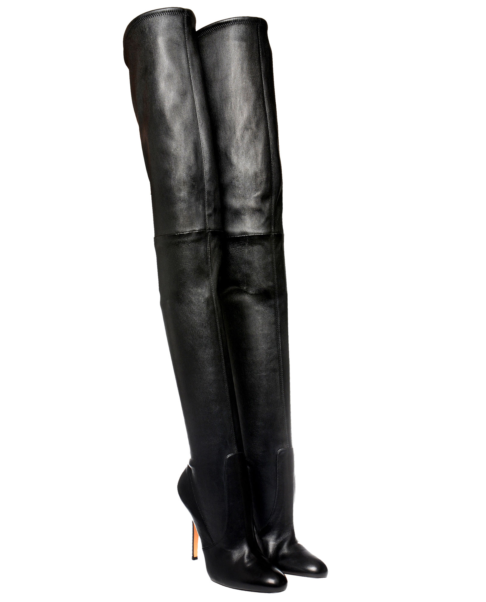 gianvito thigh high boot in black lyst