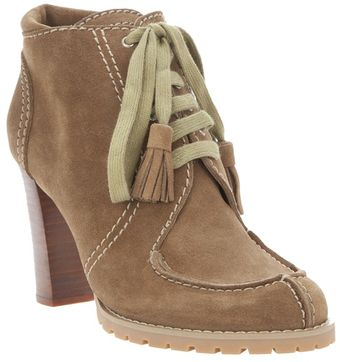 See By Chloé Suede Lace Up High Heel Ankle Boot - Lyst