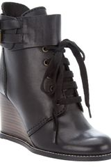 See By Chloé Lace-up Wedge Ankle Boot - Lyst