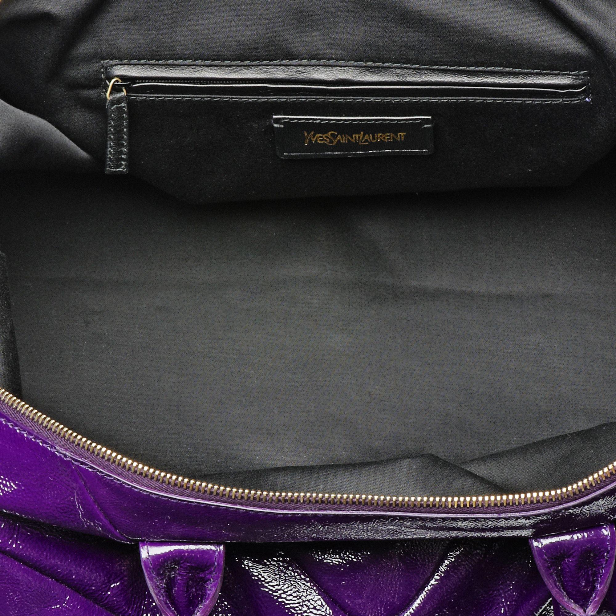 86ef5e75b ysl purple leather handbag easy