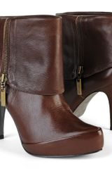 Carvela Sound Brown Ankle Boots - Lyst