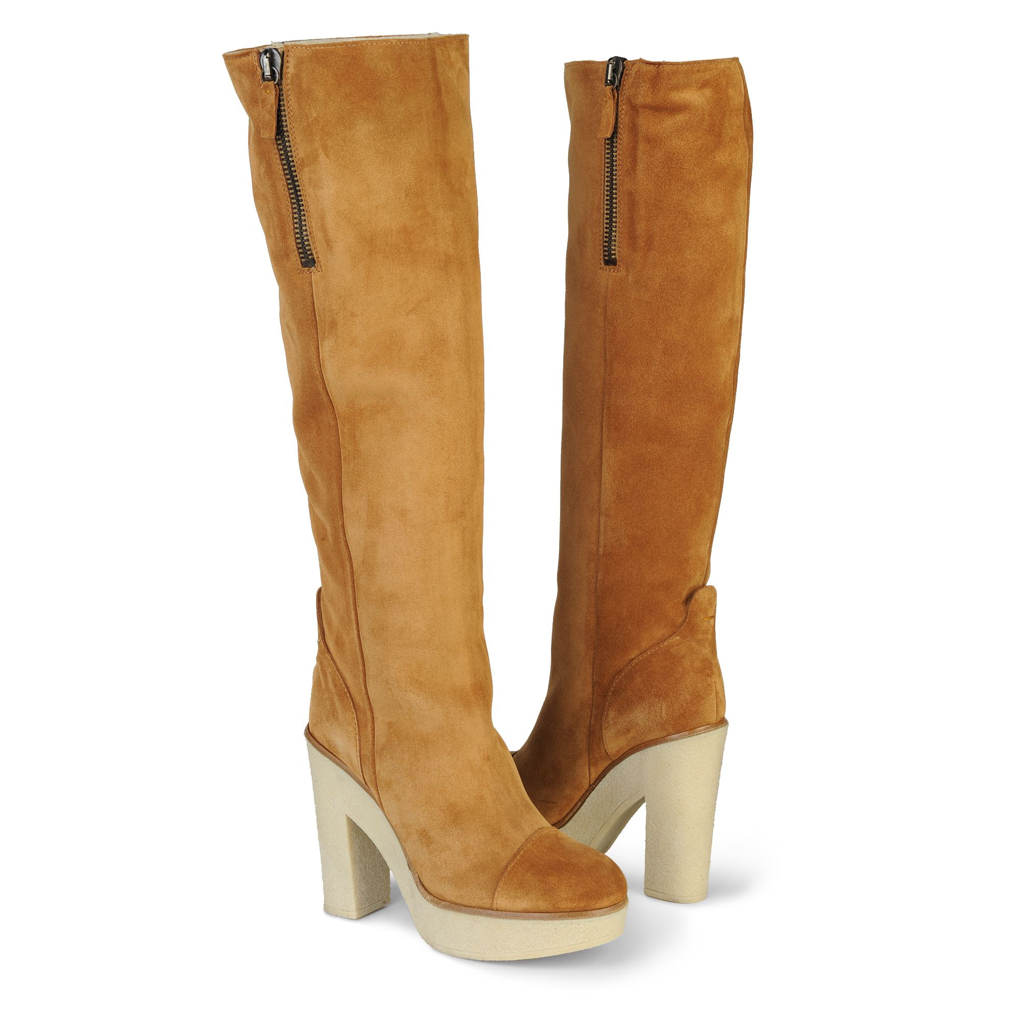 Kurt Geiger Waterloo Tan Knee–high Boots In Brown (tan)