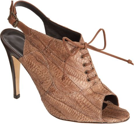 Manolo Blahnik Salanda in Brown (metal mocha patent) - Lyst