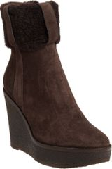 Yves Saint Laurent Cuffed Wedge Ankle Boot - Lyst