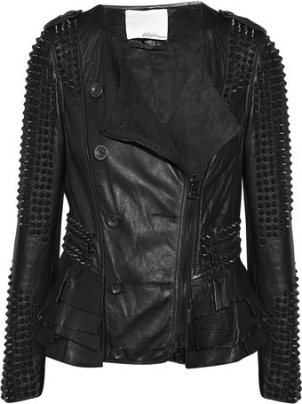 3.1 Phillip Lim Stud-embellished Leather Jacket - Lyst