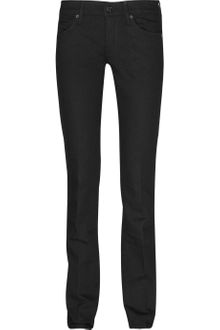7 For All Mankind Low-rise Straight-leg Jeans - Lyst