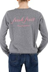 Beayukmui Special Edition Fresh Fruit Sweater in Gray (grey) - Lyst