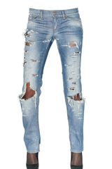 D&G Destroyed Low Rise Straight Leg Jeans - Lyst