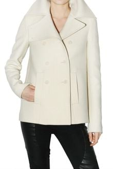 Givenchy Double Cloth Pea Coat - Lyst