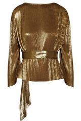 Halston Heritage Metallic Lamé-knit Top