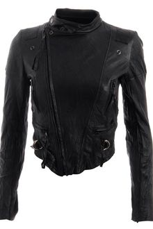 Horace Cropped Leather Biker Jacket - Lyst