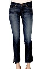 J Brand Stretch Skinny and Cropped Zip Hem Jeans - Lyst