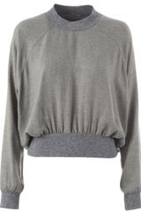 Maison Martin Margiela Cropped Front Ruched Top