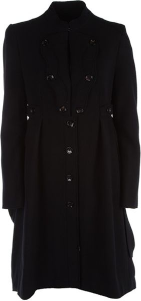Mcq By Alexander Mcqueen Military Style Coat in Black - Lyst