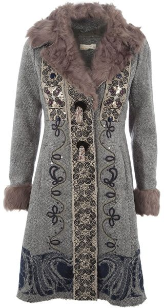 Odd Molly Patterned Sequin/bead Coat - Lyst