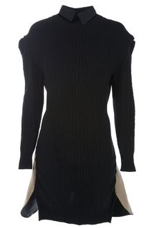 Sacai Cut-away Cable Knit Dress - Lyst