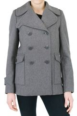 See By Chloé Felted Wool Coated Jacket - Lyst