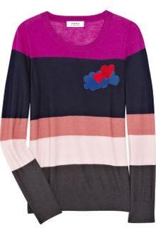 Sonia By Sonia Rykiel Striped Wool Intarsia Sweater - Lyst