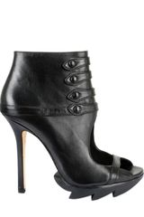 Camilla Skovgaard 115mm Calfskin Open Toe Button Up Boots - Lyst