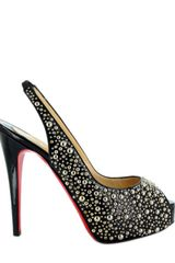 Christian Louboutin Star Privè Studs Sling Back Sandals - Lyst