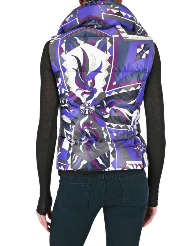 Emilio Pucci Printed Nylon Vest Down Jacket In Purple Lyst