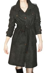 Harnold Brook Tweed Trench Coat - Lyst