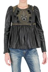 Manoush Studded Leather Jacket - Lyst