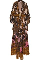 Matthew Williamson Printed Silk-chiffon Kaftan - Lyst
