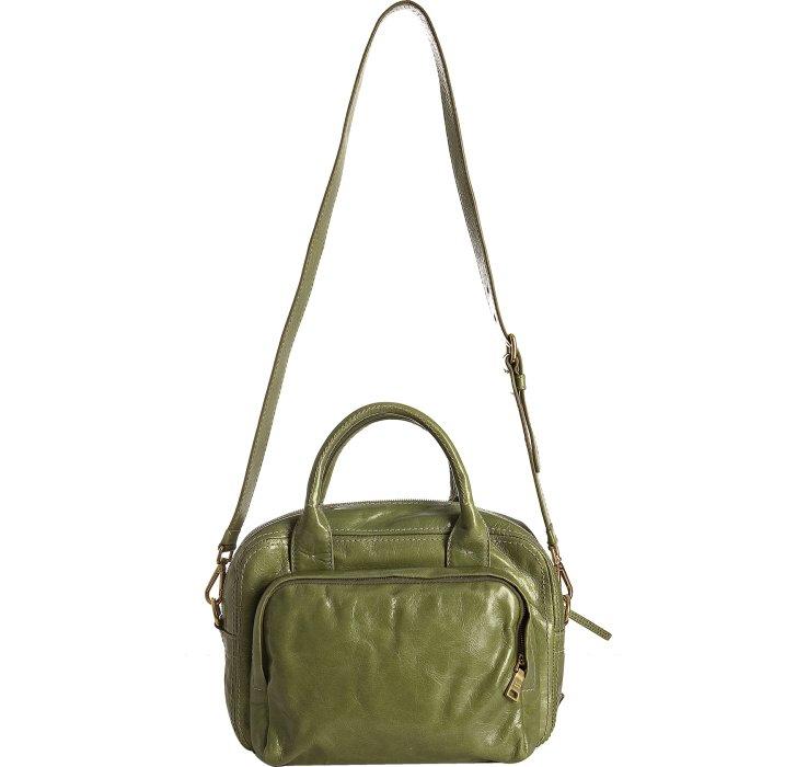 d69c0325570e Prada Edera Green Vitello Shine Logo Zip Top Satchel in Green .