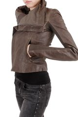 Rick Owens Washed Biker Leather Jacket - Lyst