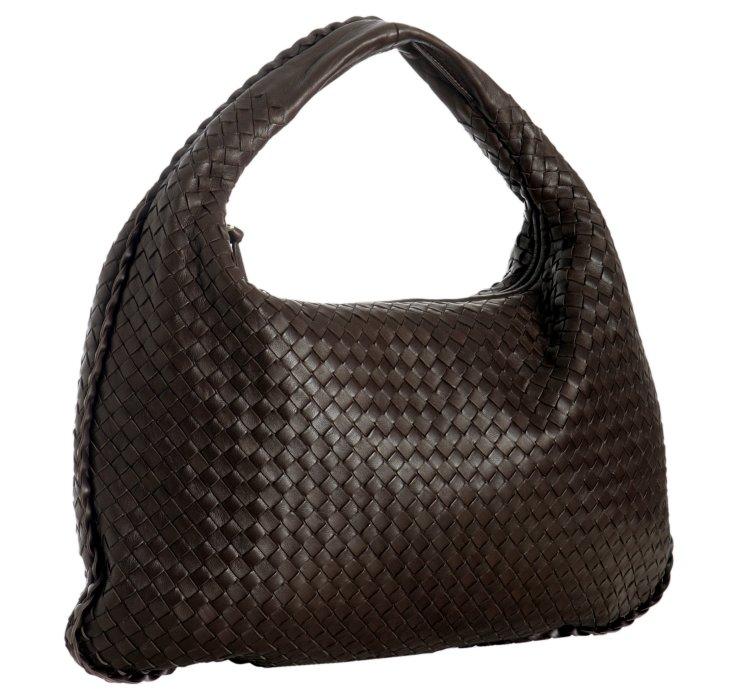 c0e6e215655d Lyst - Bottega Veneta Dark Brown Woven Leather Veneta .