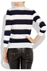 Joseph Sailor Striped Cashmere Sweater in Blue (navy) - Lyst