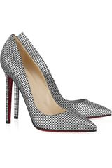 Christian Louboutin Pigalle 120 Polka-dot Pumps