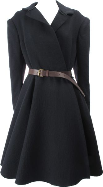 Lanvin Coat in Black - Lyst