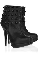 Thomas Wylde Studded Leather Ankle Boots - Lyst