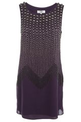 Tibi Embellished Silk Dress