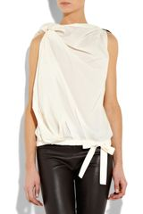 Vionnet Cottonpoplin Blouse in White - Lyst