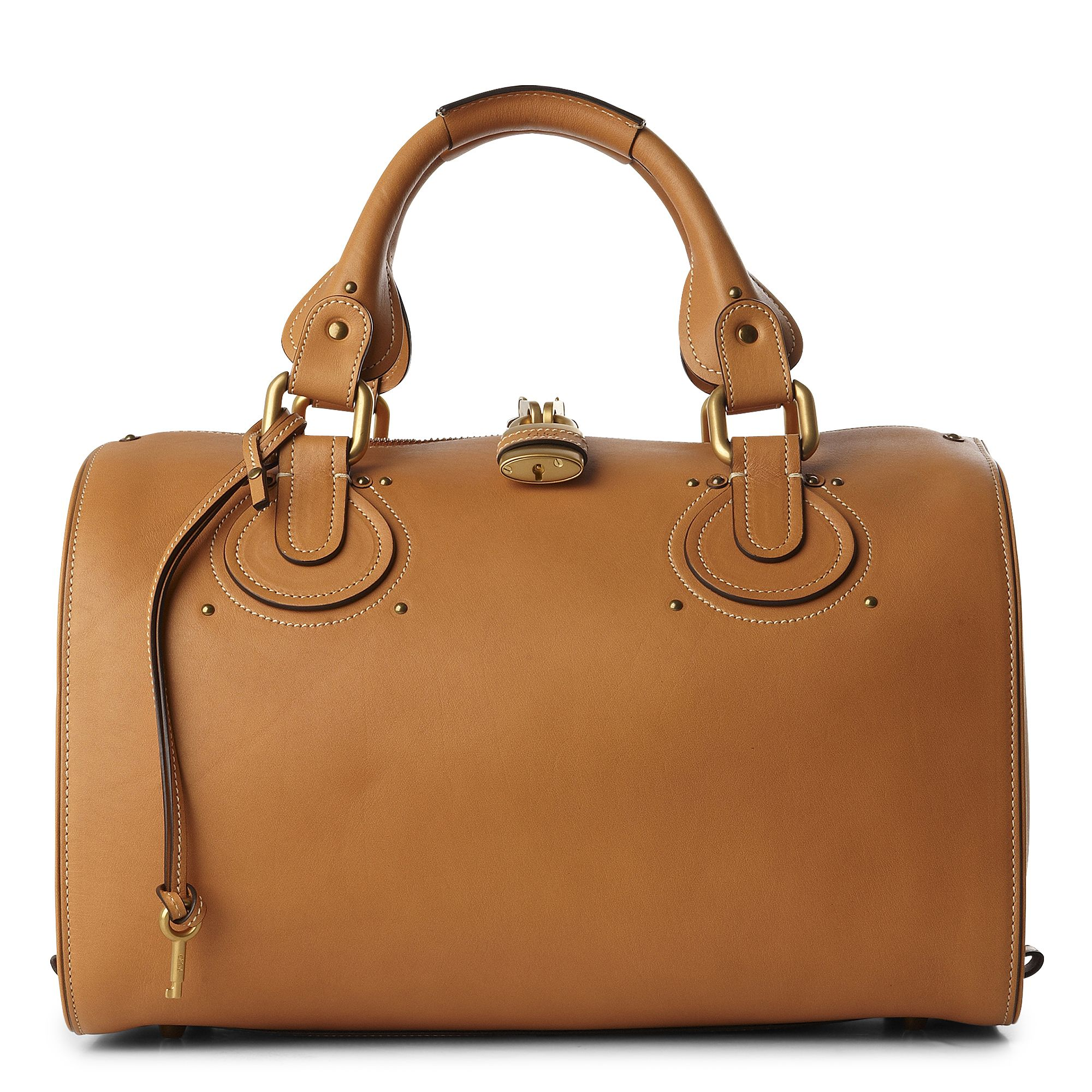 Chlo¨¦ Aurore Bowling Bag in Brown (caramel) | Lyst